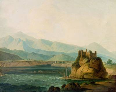 1800 Photograph - The Rope Bridge At Serinagur by Thomas Daniell