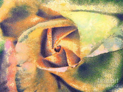 Sweating Painting - The Rose by Odon Czintos