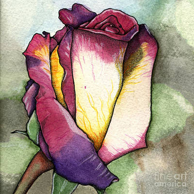 Painting - The Rose V2 by Nora Blansett
