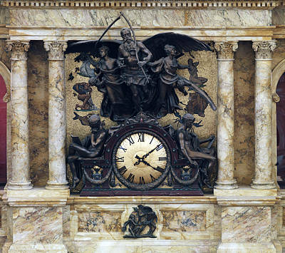 The Rotunda Clock Ca. 1890s By John Art Print by Everett