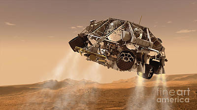 The Rover And Descent Stage For Nasas Art Print by Stocktrek Images