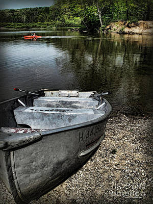 Photograph - Hinckley Lake Row Boat  by Joan  Minchak
