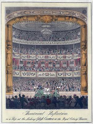 The Royal Coburg Theatre And Audience Art Print by Everett