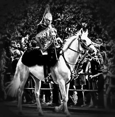 Digital Art - The Royal Horse Guard by Carrie OBrien Sibley