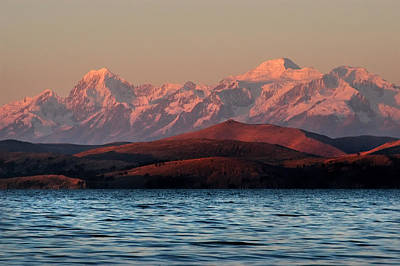 The Royal Mountains And Lake Titicaca. Republic Of Bolivia. Art Print