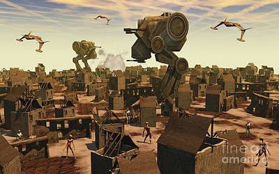 Destruction Digital Art - The Ruins Of An Earth Type Environment by Mark Stevenson