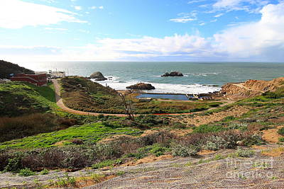 Bath-house Photograph - The Ruins Of Sutro Baths In San Francisco  . 40d4312 by Wingsdomain Art and Photography