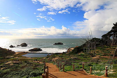 Bath-house Photograph - The Ruins Of Sutro Baths In San Francisco  . 40d4330 by Wingsdomain Art and Photography