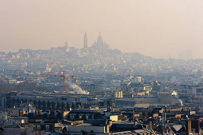 Sacre Coeur Photograph - The Sacre Coeur On The Hill Of Montmatre by Martin Child