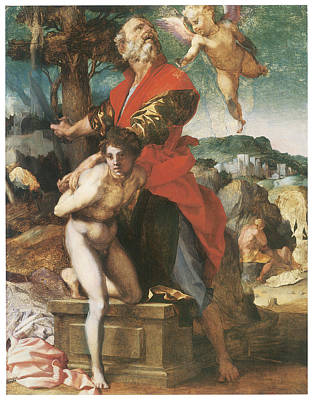 Sarto Painting - The Sacrifice Of Isaac by Andrea Del Sarto