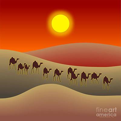 Sahara Art Print by Walter Oliver Neal