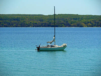 Photograph - The Sail - Hope Bay Campground by Cyryn Fyrcyd