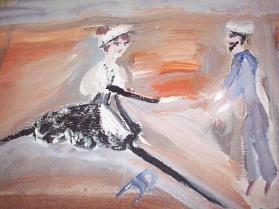 The Sailor And The French Maid Art Print by Judith Desrosiers