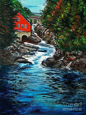 Painting - The Salmon Run by Patricia L Davidson