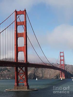 The San Francisco Golden Gate Bridge - 5d18906 Art Print by Wingsdomain Art and Photography