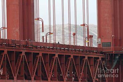 The San Francisco Golden Gate Bridge - 7d19060 Art Print by Wingsdomain Art and Photography