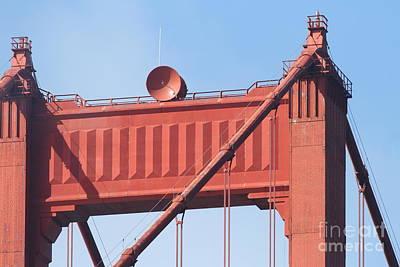 The San Francisco Golden Gate Bridge - 7d19108 Art Print by Wingsdomain Art and Photography