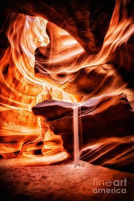 The Sandfall Art Print by Geoffrey Gilson