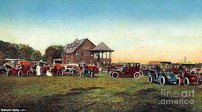 Painting - The Saratoga Clubhouse In 1910 by Dwight Goss