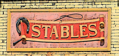 The Schlitz Stables Art Print by Geoff Strehlow