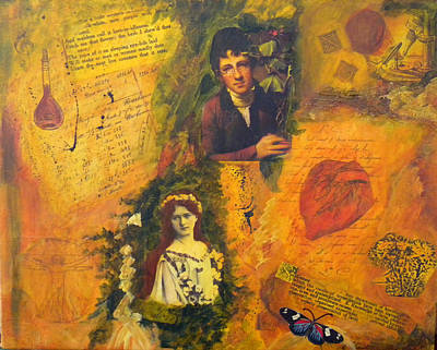 18th Century Mixed Media - The Science Of Love by Lily Silver