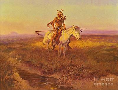 Dakota Painting - The Scout by Pg Reproductions