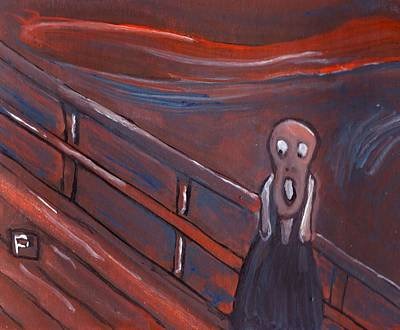 The Scream Mixed Media - The Scream by Peter  McPartlin