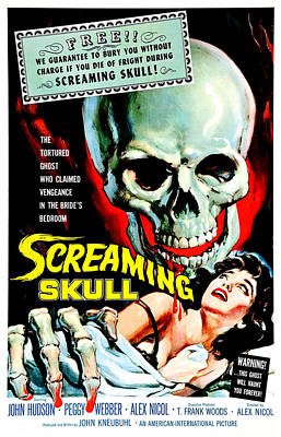 The Screaming Skull, 1958 Art Print