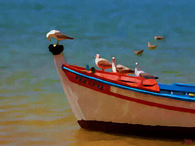 Painting - The Sea Gulls by Jann Paxton