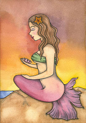 Painting - The Sea Lotus by Nora Blansett