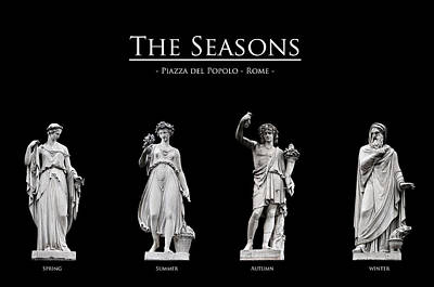 Neoclassical Photograph - The Seasons by Fabrizio Troiani