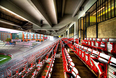 Photograph - The Seats At Martin Stadium by David Patterson
