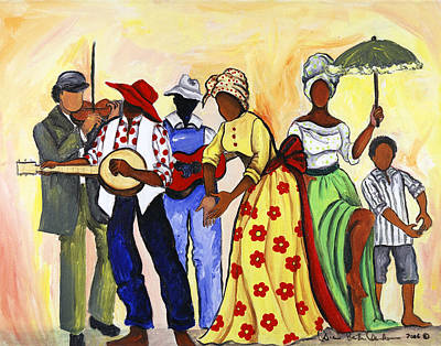 The Second Line Art Print by Diane Britton Dunham