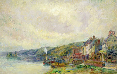 Tugboat Painting - The Seine At Croisset by Albert Charles Lebourg
