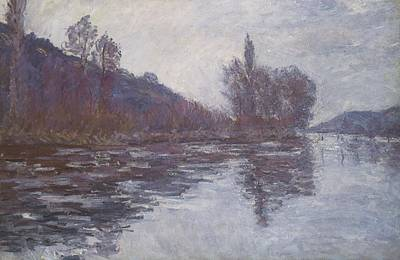 Perspective Painting - The Seine Near Giverny by Claude Monet