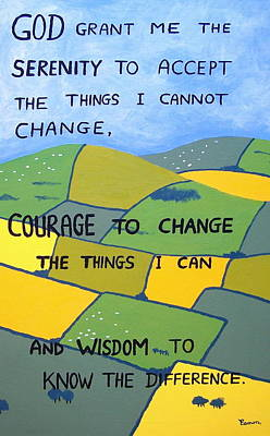 The Serenity Prayer Art Print by Eamon Reilly