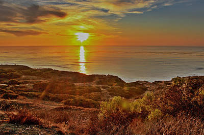 Photograph - The Setting Sun Hdr by Jeremy McKay