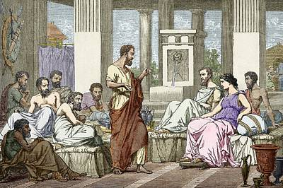 The Seven Sages Of Greece, 7th Century Bc Art Print by Sheila Terry