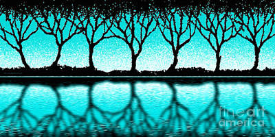 Digital Art - The Seven Trees by Cristophers Dream Artistry