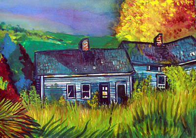 Shed Drawing - The Shack by Mindy Newman