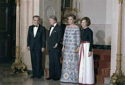 Carter House Photograph - The Shah Of Iran Jimmy Carter by Everett