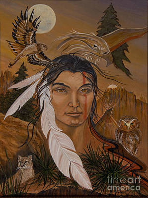 The Shaman Art Print by Jeanette Sacco-Belli