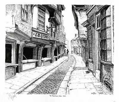 The Shambles  York England Art Print by John Simlett
