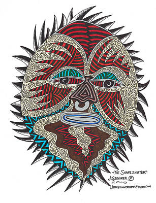 Primitive Drawing - The Shape Shifter by Jerry Conner