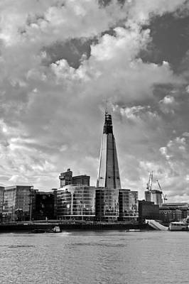 Photograph - The Shard London Black And White by Gary Eason