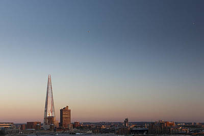 Y120831 Photograph - The Shard Towering Above South Bank by Pawel Toczynski