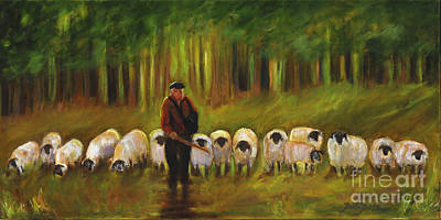 Painting - The Sheep Herder by Pati Pelz