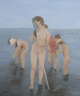 Painting - The Shell Pickers 1 by Masami Iida