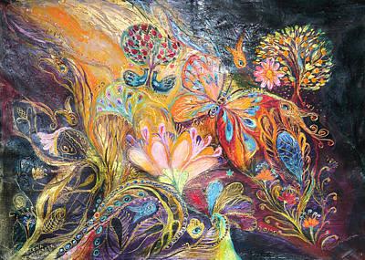 The Shining Of The Orange Tree Art Print by Elena Kotliarker