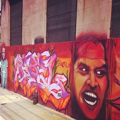 Horror Wall Art - Photograph - #the #shinning #jack #nicholas #movies by Alex Mamutin